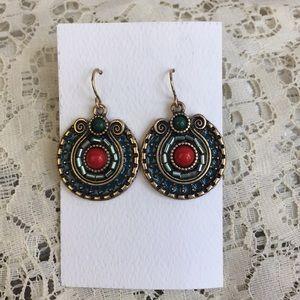 Tazza beaded medallion earrings